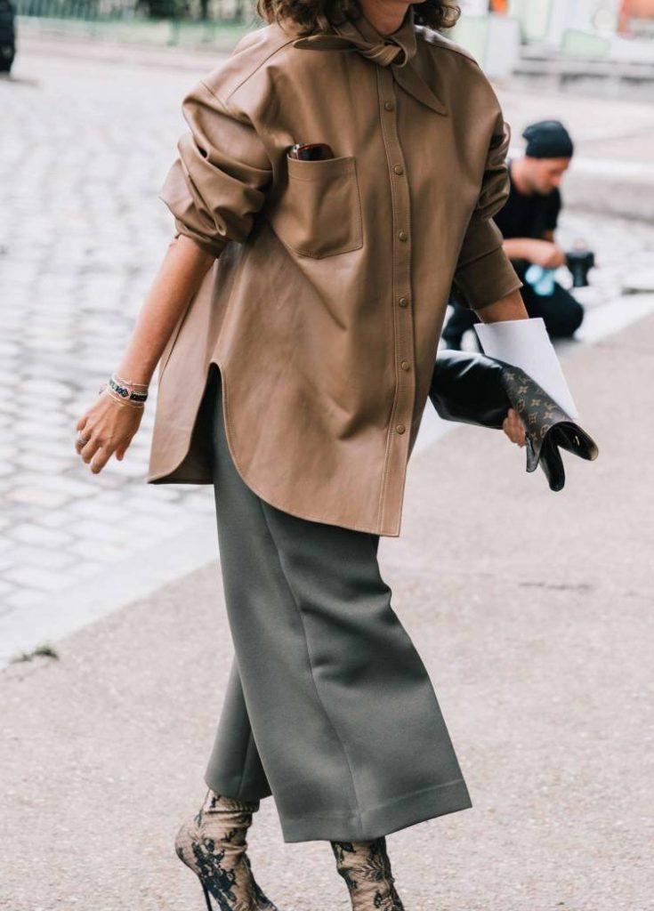 marron con gris moda