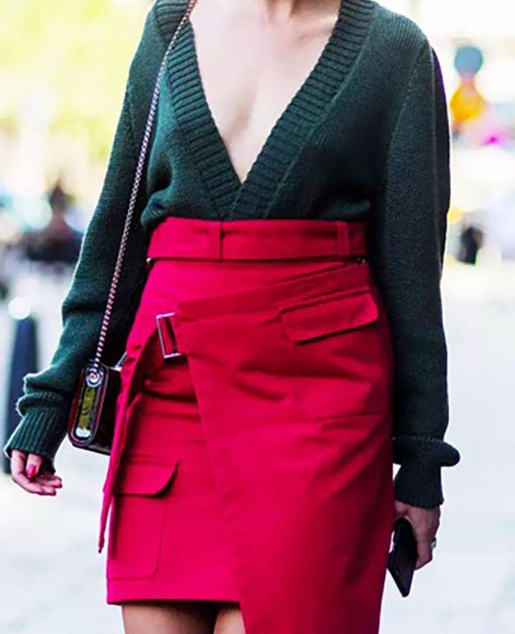 verde con rojo moda